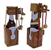 ORIGINELLE GESCHENKIDEE:Ist Ihnen Geschenkpapier zu einfallslos? Dann probieren Sie doch mal unser Flaschenpuzzle aus Holz. EINZIGARTIGES GEDULDSSPIEL MIT FLASCHE:Mit diesem tollen Schnurpuzzle können Sie kleine und große Flaschen wie z.B. 0,33 l (we...