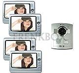 Kit videoportero 4Monitor interfono para casa a Piu niveles. Cámara con IR.