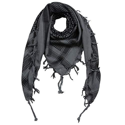 Superfreak Palituch zweifarbig klassisch°PLO Schal°100x100 cm°Pali Palästinenser Arafat Tuch°100% Baumwolle – alle Farben!!!, Grau/Schwarz, 100x100cm