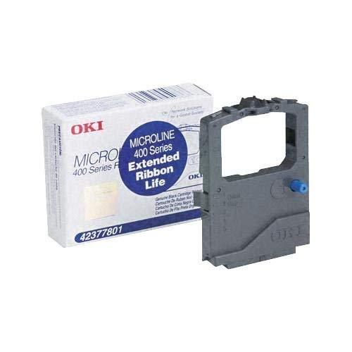 6 Pack Okidata/ OKI 42377801 (42377-801) Black OEM Genuine Ribbon Cartridge (4M Characters) - Retail