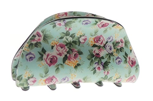 Mesdames imprimé floral jardin anglais 8 cm Cheveux Griffe de serrage clip