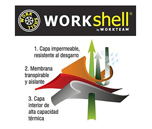 Work Team Workshell Combinado con Alta Visibilidad, 2 Cintas Reflectantes. Hombre