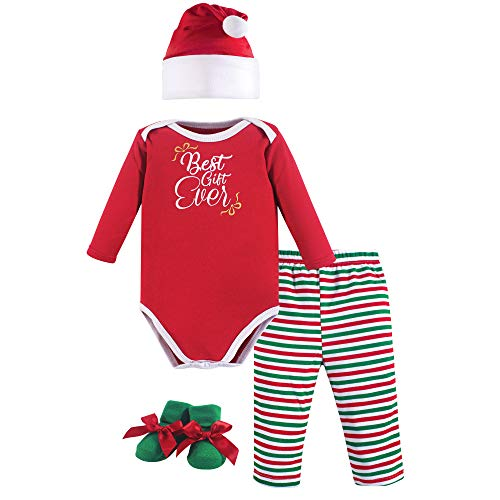 Hudson Baby Unisex Baby Holiday Box Set, Best Gift Ever, 0-6 Months