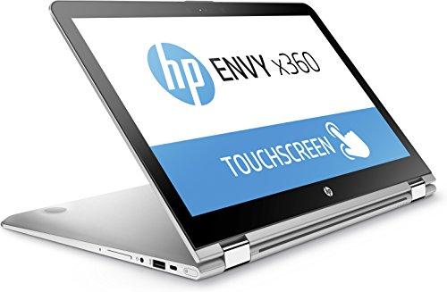 HP Envy X360 (15-aq106ng) - Ordenador portátil convertible (360°, Intel Core i5-7200U, Intel HD Graphics, Windows 10 Home), color plateado plateado plata 256 GB SSD