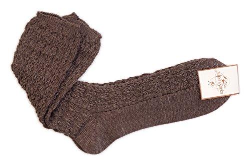 Trachten Socken - 41116 - braun, Größe 9(36-37)