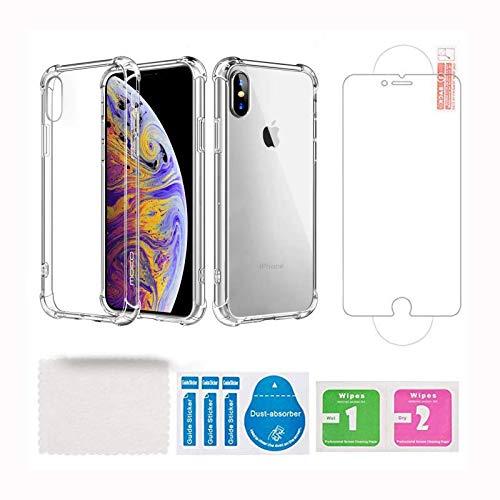 Funda Transparente Transparente para iPhone 6/6S 4.7'' 2 EN 1 Pack con 2.5D Cristal Templado