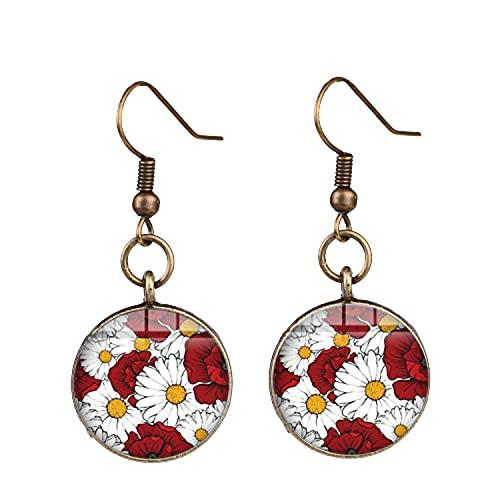 Pendientes de cristal con diseño de flamenco, estilo bohemio, hechos a mano, para mujer, para fiestas, regalo