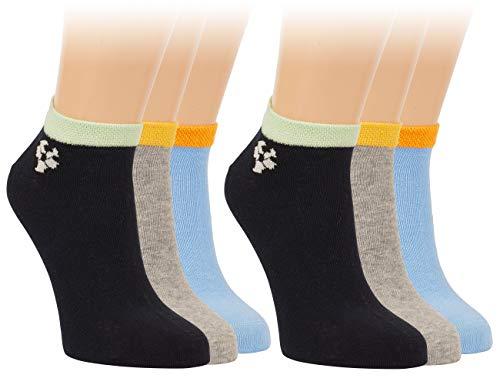 Vitasox 21238 Kinder Jungen Sneaker Socken Sneakersocken Füßlinge Fußball Baumwolle einfarbig ohne Naht 6 Paar 27/30
