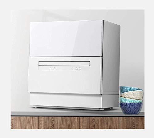 ZCCL Lave-Vaisselle de Table, Petite Machine à Laver la Vaisselle Intelligente intégrée de Stockage de désinfection Automatique Domestique, Double Panier de Bol indépendant, capacité de 6 ensembl
