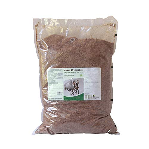 Emiko EM HorseCare Bokashi Effektive Mikroorganismen f. Pferde 8kg /Darmflora, Kleie-Kräuter-Ferment auf Basis der EM-Technologie, Ergänzungsfuttermittel mit natürlicher Milchsäure