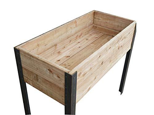 Die Gartenbeet-Kiste Stabiles Hochbeet Terrasse Kräuterbeet Lärchenholz (Rustikal)