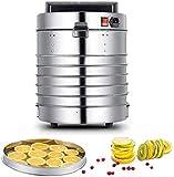 TXOZ-Q Máquina de secado de deshidratador de alimentos de acero inoxidable de 5 bandejas con ajustes de temperatura preestablecida e incluso circulación de calor for carne de resistida, frutas, nueces