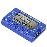 Comprobador de capacidad Balance de voltaje Medidor de celda inteligente Medidor de batería profesional 5 en 1 digital para interiores con pantalla LCD retroiluminada para detección