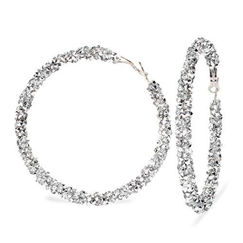 ZOYLINK Strass Creolen Schmuck Ohrringe Dekorativer Ohrbügel für Frauen