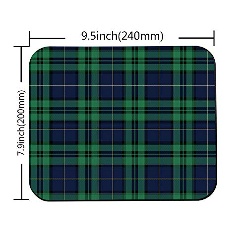 """Swono Green Tartan Mouse Pads Tartan Black Watch Plaid Bias Christmas Shirting Traditional Mouse Pad for Laptop Funny Non-Slip Gaming Mouse Pad for Office Home Travel Mouse Mat 7.9""""X9.5"""" Photo #2"""
