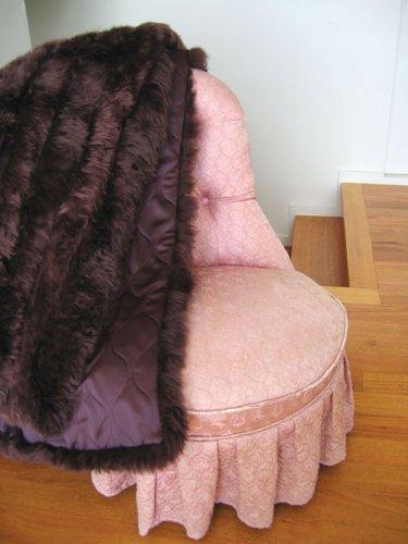 Bowron echtem Schaffell Bett Überwurf (Elfenbein/Braun) braun