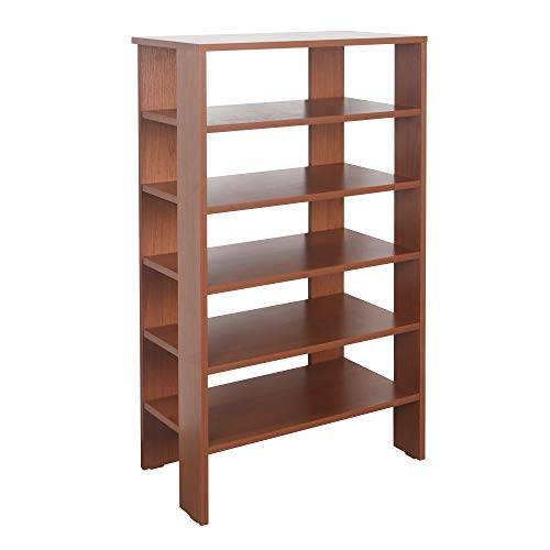 RICOO WM041-ER Estantería 105 x 60 x 32 cm Estante pequeño Librería Moderna Biblioteca Muebles de hogar Mueble almacenaje Madera Color Roble marrón