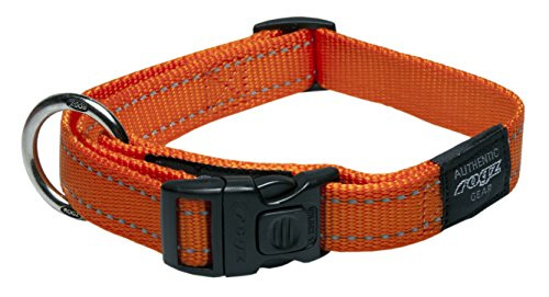 Reflective Dog Collar for Extra Large Dogs, Adjustable from 17-27 inches, Orange