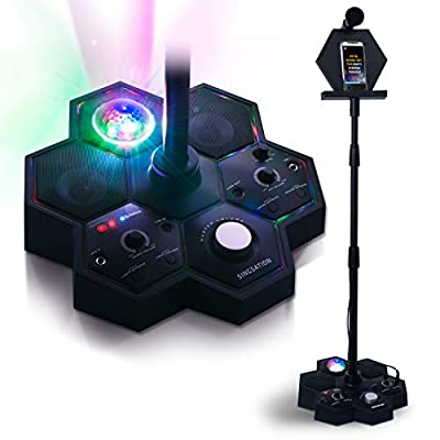 Singsation Karaoke Machine - Mainstage All-In-One Professional Karaoke Party System w/Vocal, Sound and Light Effects, Auto Tune, Two Microphones and Sound System