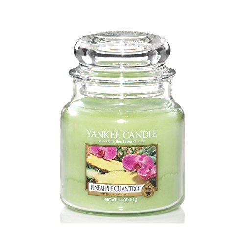 Yankee Candle Candela Giara Media, Pineapple Cilantro, fragranze naturali