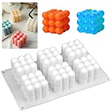 Kerzenformen, 3d Form Ferzen, Silikon für Kerzenform für Handwerk Ornamente Kerzen Seifen Süßigkeiten Die Herstellung Von Pralinen Hausgemachte Geschenk Party, 3D Ball Cube Silikon Mold, Kerzen Gießen
