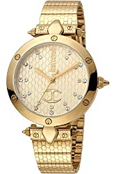 Yellow Gold Plated Stainless Steel Case and Bracelet and Champagne dial