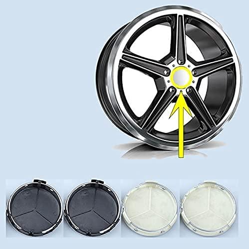 4 Piezas 75mm De Tapas Rueda Centro Tapacubos De ABS Para Mercedes Benz W205 W204 W203 W212 W211 A C E B Class,La Rueda Logo Insignia Coche Accesorios