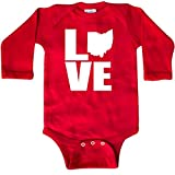 inktastic Ohio Love Long Sleeve Creeper Newborn Red