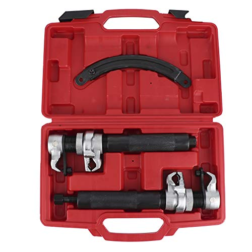 Coil Spring Compressor Tool, 2 Pcs Ultra Rugged Strut Spring Compressor Tool Shock Absorbers Spring Compressors 0.9‑11in Jaw with Fixing Bracket Carbon Steel Tool and Carrying Case