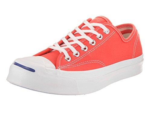 Converse Unisex Jack Purcell Signature Ox Hyper Orange/White/White Casual Shoe 4 Men US / 5.5 Women US