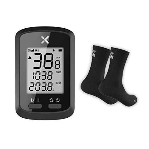 XOSS G GPS Cycling Computer Wireless Bike Speedometer Odometer Cycling Tracker Waterproof Road Bike MTB Bicycle Bluetooth with Cycling Socks