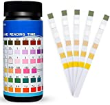 Pool Test kit for Inground Pool,Hot Tub Test Strips Pool, Water Test Kit - 6 Ways Pool and Spa Test Strips 100 Count for Hot Tub Swimming Pool Chemical Testing Spas Chlorine PH Chemicals Bromine.