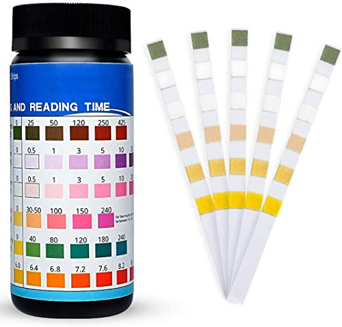 Hot Tub Test Strips Pool Water Test Kit - 6 Ways Pool and Spa Test Strips 100 Count for Hot Tub Swimming Pool Chemical Testing Spas Chlorine PH Chemicals Bromine and More, Accurate Pool Testing Strip