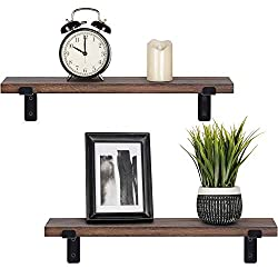 Home decor & organizer- Set of 2 wall shelves are the perfect piece for any rustic, modern, or natural home decor. They allow to better organize spaces and to put all sorts of things on display. They are perfect choice for adding additional shelving ...