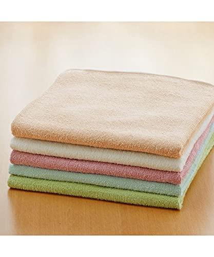 [nissen(ニッセン)] バスタオル セット 5枚組 薄手 超薄手 乾きやすい 綿100% 綿 コットン カラフル 約60×120cm