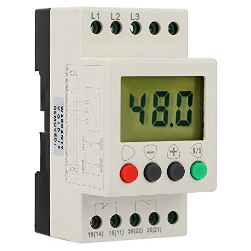 AC 50 Hz, 3-Phasen-Überwachungsrelais 380 V Spannungsüberwachungsrelais mit Digitalanzeige, Überspannung und Unterspannung