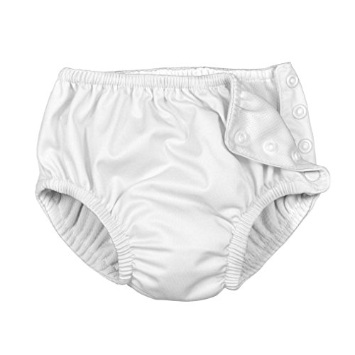 i play. by green sprouts Clothing, Shoes & Jewelry Toddler Swim Diaper, New White, 3T