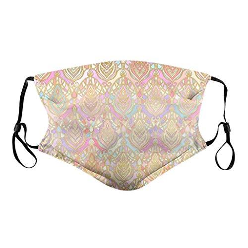 riou Baumwolle Mundschutz Waschbar mit Motiv Bunt Sommer Atmungsaktive Staubdicht Bandana Halstuch für Damen und Herren