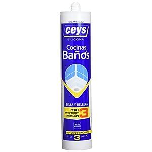 41Cqpy+gJAL. SS300  - Ceys M128789 - Silicona sellaceys cocina/baño 280ml-blanco