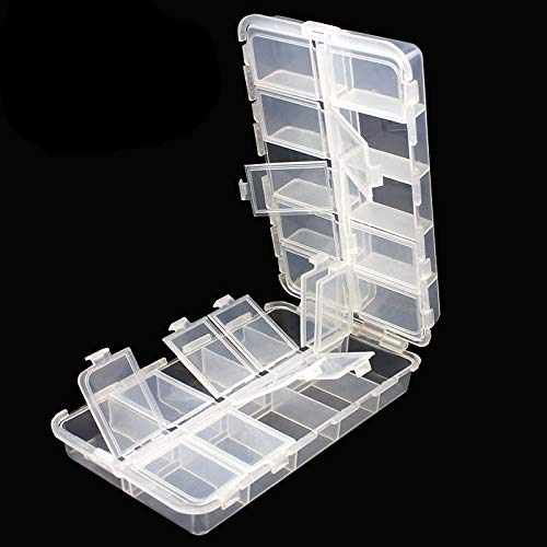 OriGlam Premium 20 Compartments Tackle Boxes, Tackle Utility Boxes, Plastic Box Storage Organizer Box with Adjustable Dividers, Fishing Tackle Storage Box Organizer