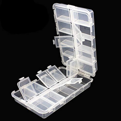 OriGlam Premium 20 Fächer Tackle Boxen, Tackle Utility Boxen, Kunststoff-Box Aufbewahrungsbox mit verstellbaren Trennwänden, Angelzubehör Aufbewahrungsbox Organizer