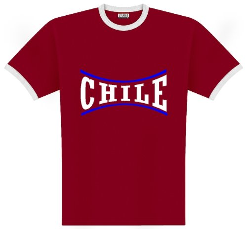 World of Football Ringer T-Shirt Chile Linie - L