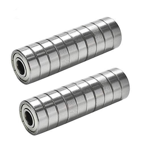 TUZUK 20 x Roulements à billes miniatures 608zz Roller Rolling Skate 8 * 22 * 7mm pour imprimante 3D