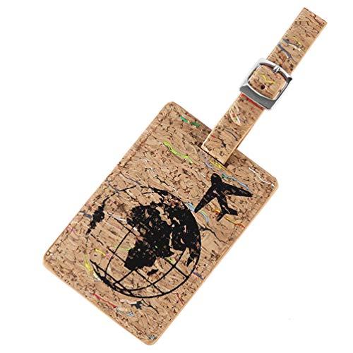 PRETYZOOM Lederen Bagage Tags Koffer Tag met Naam ID Card Reistas Labels Privacy Cover Naam Kaarthouder voor Reizen Rugzak Koffer (Pattern 1)