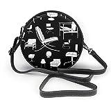 Mid Century Chairs Designer-Möbel, rund, Umhängetasche, Handtasche