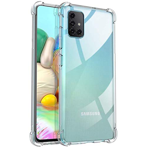 iMoshion kompatibel mit Samsung Galaxy A71 Hülle – Shockproof Hülle Handyhülle – Silikon Schutzhülle in Durchsichtig/Transparent [Verstärkte Ecken, Stoßfest, Dünn]