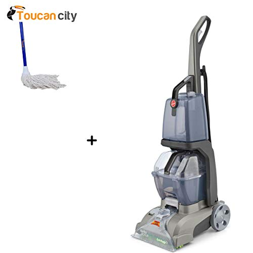 New Toucan City String Mop and Hoover Turbo Scrub Upright Carpet Cleaner FH50134