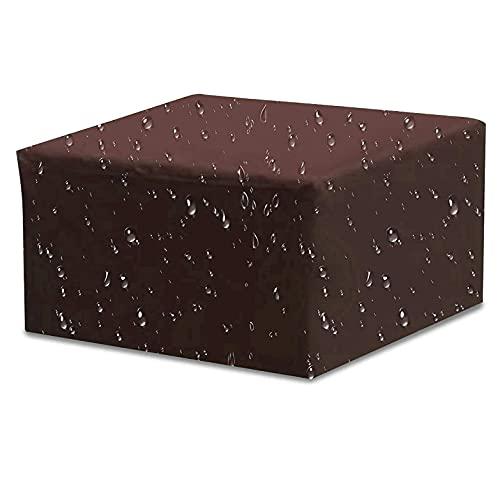 DXAQX Cubierta rectangular para muebles de jardín, impermeable, resistente a los rayos UV, tela Oxford 210D, para muebles de patio, al aire libre, color marrón (152 x 104 x 71 cm)