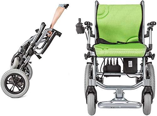 GJHW - Silla de ruedas eléctrica ultraportátil (peso de solo 35 kg, incluye batería de litio de 10 A)