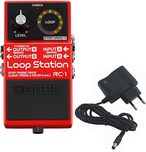 BOSS RC-1 Loop Station Looper + shop2rock 9 V...